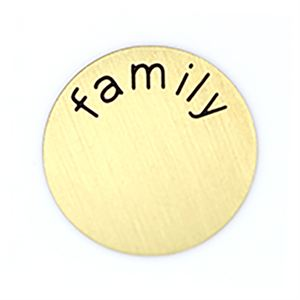 Picture of 'Family' Medium Gold Coin