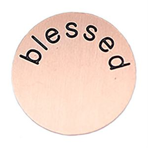 Picture of 'Blessed' Large Rose Gold Coin